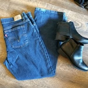 Levi's 530 Boot Cut 14 Short in Classic Med Wash